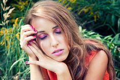 Pink Make Up pink lips pink eye shadow