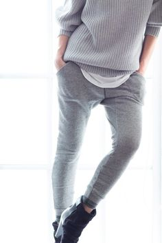 grey on grey casual #style #fashion