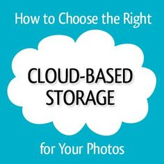All the cloud storage options can be completely overwhelming! Professional Organizer Lauren Halagarda has done the research for you and sums. Scrapbook Organization, Storage Organization, Scrapbook Supplies, Iphone Life Hacks, Picture Storage, Foto Fun, Cloud Photos, Apps, Thing 1