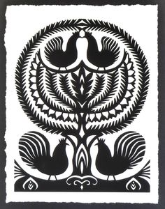 polish paper cuts (wycinanki) - Google Search
