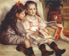 Portraits of Two Children - Pierre-Auguste Renoir
