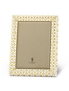 L'Objet - Chevron Glass & 24K Gold Picture Frame