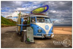 Coffee Stop - funky beachside VW conversion.