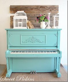 Painted piano, I would love to have one of these in my home