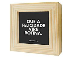 Mini quadro box - felicidade