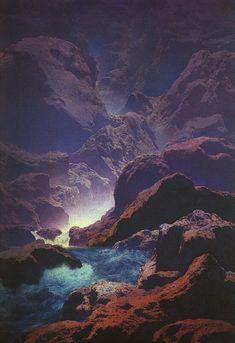 Maxfield Parrish - Moonlight