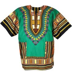 African Dashiki Mexican Poncho Hippie Tribal Ethic Boho Shirt Green... ($15) ❤ liked on Polyvore featuring hippie poncho, tribal poncho and green poncho