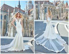 "Galia Lahav || Ivory Tower Collection | ""Julianna"" Click the image to view the entire collection on The Coordinated Bride Wedding Blog"