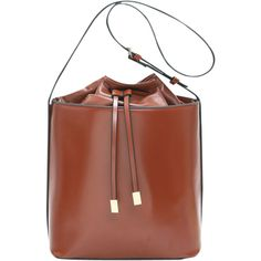 Faux Leather Bucket Shoulder Bag Dark Auburn ($28) ❤ liked on Polyvore featuring bags, handbags, shoulder bags, brown purse, brown shoulder bag, vegan leather purses, vegan handbags and shoulder bag purse