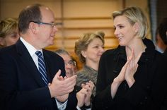 Princess Charlene and Prince Albert attended an award ceremony following the Princess Charlene Rally in Monaco on April 7th, 2015.