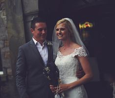 Real Huw Rees Bride... Rachel in her Ellis gown customised in our boutique.