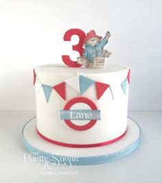 We are a cake company based in Ripponden, West Yorkshire who specialise in bespoke wedding and celebration cakes. Second Birthday Cakes, Bear Birthday, Birthday Treats, Paddington Bear Party, British Party, Luxury Cake, Sugar Cake, Dream Cake, Ice Cream Party