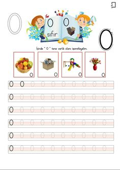 0 Rakamı Preschool Math, Teaching Kindergarten, Kindergarten Worksheets, Shapes Worksheets, Worksheets For Kids, Consonant Blends, Turkish Language, Little Learners, Reading Skills