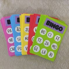 Bingo for my open House day. Spanish Activities, Phonics Activities, Kindergarten Activities, Activities For Kids, Kindergarten Reading, Preschool Learning, Teaching, Learning Games, Home Schooling