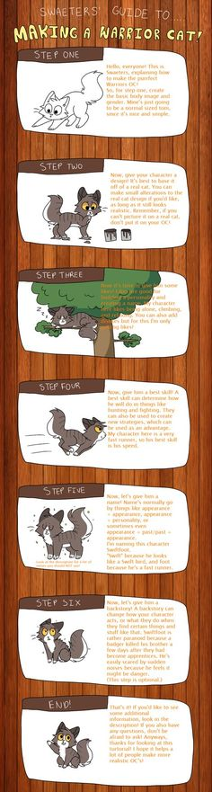 Guide To Making A Warrior Cat OC by swaeters.deviantart.com on @DeviantArt