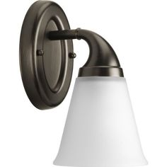 Progress Lighting P2758-74 1-Light Bath Which Mounts Up Or Down, Venetian Bronze by Progress Lighting. $59.04. From the Manufacturer                A timeless classic, the Lahara Collection coordinates with Delta Faucet fixtures providing a whole-room decorating solution. Tapered, etched glass shade provides even illumination for your room. Easily create a designer look in your home with these coordinating fixtures. 1-Light Bath in a Venetian Bronze finish. Timeless style work...