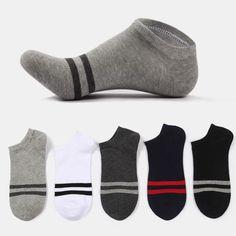 Cody Steel Cotton Men Socks Fashion Wide Stripes Summer Mens Socks Casual All-match Man Short Socks 5pairs/lot Men's Socks