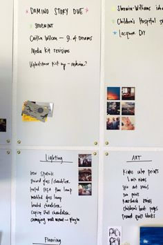 DIY Magnetic White Board Wall Step-by-step process for creating your own magnetic white board. Dry Erase Paint, Dry Erase Markers, Dry Erase Board, Office Bulletin Boards, Diy Whiteboard, Galvanized Sheet Metal, Marker Board, Little Green Notebook, Magnetic White Board