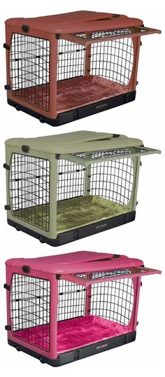 Pet Gear Deluxe Steel Dog Crate with Bolster Pad http://www.spartadog.com/products/pet-gear-deluxe-steel-dog-crate-with-bolster-pad $327.97