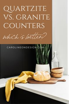 What is the best option between granite vs. quartzite counters? Find out in this post and make the decision yourself! Remodeling or building a new home? Let me help you choose the right countertop for your home. Building A New Home, Granite Counters, Kitchen Photos, Beautiful Kitchens, Kitchen Design, New Homes, Let It Be, Kitchen Pictures, Design Of Kitchen