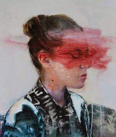 Paintings by Lou Ros   http://ineedaguide.blogspot.com/2015/04/lou-ros-update-2.html   #art #paintings