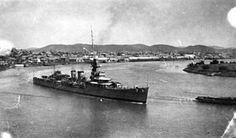 HMS Dunedin (D93) 1918, was a Danae-class light cruiser of the RN.Early in the WW II, was involved in the hunt for the German battleships Scharnhorst and Gneisenau after the sinking of the armed merchant cruiser Rawalpindi. Dunedin was steaming in the Central Atlantic Ocean, just east of the St. Paul's Rocks,Recife, Brazil, when on 24 Nov 1941, two torpedoes from the German submarine U-124 sank her. Only 4 officers and 63 men survived out of Dunedin's crew of 486 officers and men.