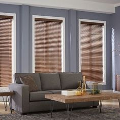 Faux wood blinds are the top priority of people when it comes to blinds and shades. The blinds are a Clean Window Blinds, Blinds For Windows, Custom Drapes, Custom Windows, Budget Blinds, Faux Wood Blinds, Shades Blinds, Window Coverings, Window Treatments