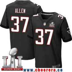 Men's Atlanta Falcons #37 Ricardo Allen Black Alternate 2017 Super Bowl LI Patch Stitched NFL Nike Elite Jersey