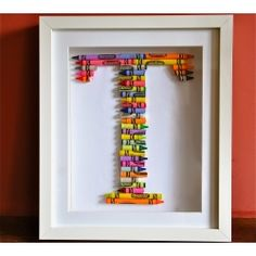 crayons, a shadow box, and a glue gun, this is DIY project glory