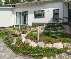 RTV-Pintamateraalitalo - Etupiha | Asuntomessut Shed, Outdoor Structures, Patio, Garden, Outdoor Decor, Home Decor, Garten, Decoration Home, Terrace