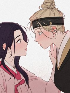 Anime Girlxgirl, Yuri Anime, Anime Love, Yuri Comics, Manga Comics, Manhwa, Chino Anime, Lesbian Art, Handsome Anime
