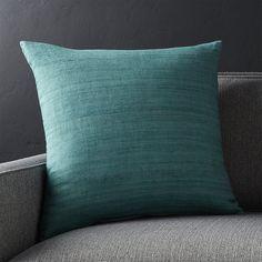 "Michaela Azure Blue 20"" Pillow | Crate and Barrel"