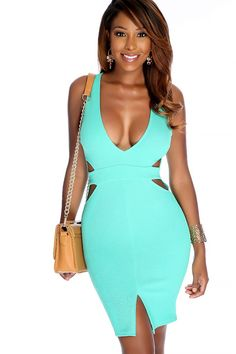 5f3e311cd93 Look Sexy to your next party in this dress! Features  plunge v-cut