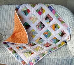 """jdy2.blogspot.com/2008/02/crazy-quilt.html  25 5"""" crazy quilted squares surrounded by white with a crazy quilted border."""