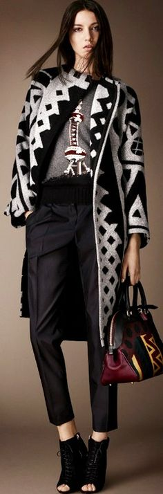 Love bold prints? Burberry Prorsum FW 2014-2015 We love this look! Get a deal on the season's hottest looks! bit.ly/1lfm3AF