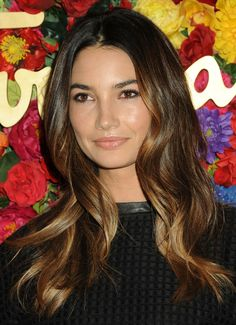 Lily Aldridge Long Wavy Cut - Lily Aldridge chose a lovely natural-looking wavy 'do to showcase her gorgeous ombre locks.