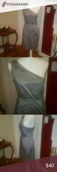 NEW gray J.Crew one shoulder dress 6 New with tags, gorgeous and elegant gray one shoulder dress.  Size 6. Would be perfect for any occasion! J. Crew Dresses Mini