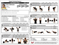 Rugby training program to maximize your strength More about Rugby Sport Stuff: Follow Rugby Drills on Tumblr!
