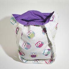 Tote Bag - Purple Owl £12.00 Purple Owl, Purple Bags, Baby Bibs, Handmade Bags, Bunting, Tote Bag, Inspiration, Bibs, Handmade Purses