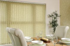 This neutral patterned 'Seagrass' fabric radiates a warm elegance within your home. This brings your room together in a natural, chic, yet simple fashion. Plus, a vertical blind is easy to adjust throughout the day to make the most of the light and views!