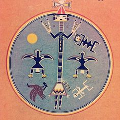 Scavenger in Eagles Nest, Navajo sand painting Native American Symbols, Native American Pottery, Native American Artists, Native American Indians, Native Americans, Sand Painting, Sand Art, Navajo Art, Indian Artifacts