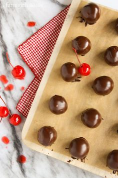 Chocolate Covered Cherry Cordials from @farmgirlsdabble