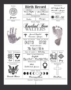 Hey, I found this really awesome Etsy listing at https://www.etsy.com/listing/172021898/birth-record-print-20-off-birth