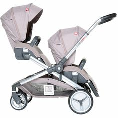 Red castle Poussette double evolutwin taupe 1