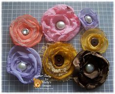 Shelly's Images: Fabric Singed Edge Circle Flower