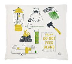 Camping Tea Towel ©Claudia Pearson