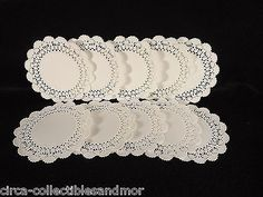 "Paper Doilies 4"" Round Cambridge Hoffmaster 50 Pc Crafts Wedding Party Scrapbook"