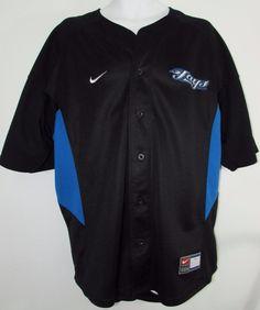 Men Nike MLB Toronto Blue Jays Alternate Black Jersey # 10 Vernon Wells Sz XL #Nike #TorontoBlueJays Toronto Blue Jays, Ml B, Vernon, Wells, Men's Clothing, Nike Jacket, Nike Men, Athletic, Jackets