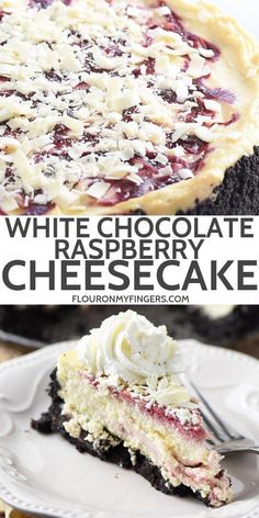 Make Olive Garden's white chocolate raspberry cheesecake at home. Who doesn'… Make Olive Garden's white chocolate raspberry cheesecake at home. Who doesn't love a decadent homemade dessert with a raspberry swirl and Oreo cookie crust? Fudge Brownies, Food Cakes, Cupcake Cakes, Cupcakes, Just Desserts, Delicious Desserts, Health Desserts, Health Foods, Cheesecake Recipes