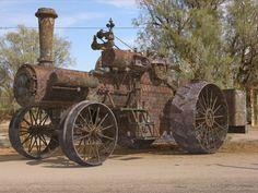 Old steam farm tractor. ... =====>Information=====> https://www.pinterest.com/gordonreed2004/steam-tractors/